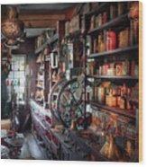 Americana - Store - Corner Grocer  Wood Print