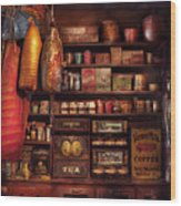 Americana - Store - The Local Grocers  Wood Print