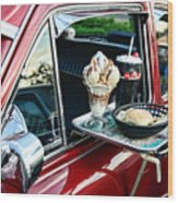 Americana - The Car Hop Wood Print by Paul Ward