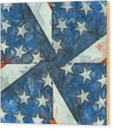Americana Abstract Wood Print