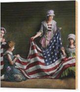 Americana - Flag - Birth Of The American Flag 1915 Wood Print