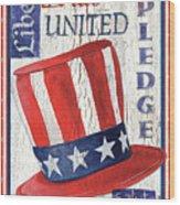 Americana Patriotic Wood Print