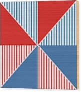 Americana Pinwheel Wood Print