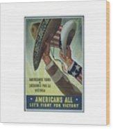 Americans All Wood Print
