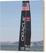 America's Cup In San Francisco - Oracle Team Usa 4 - 5d18225 Wood Print by Wingsdomain Art and Photography