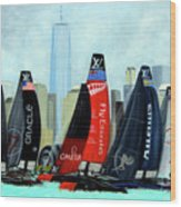 America's Cup New York City Wood Print