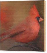 America's Favorite Red Bird Wood Print
