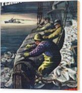 America's Fishing Fleet And Men  Wood Print