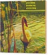 Americas Wetlands Wood Print