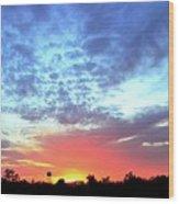 City On A Hill - Americus, Ga Sunset Wood Print
