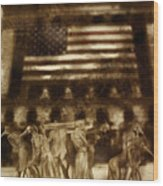 Amerika Wood Print