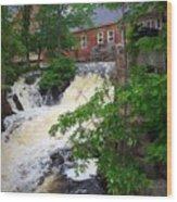 Amesbury Mill Yard Wood Print
