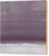 Amethyst Shoreline- Abstract Art By Linda Woods Wood Print