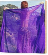 Ameynra Belly Dance. Purple Veil Wood Print