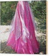 Ameynra Design - Pink-white Petal Skirt 146 Wood Print