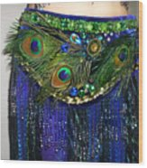 Ameynra Fashion Skirt With Peacock Feathers Wood Print