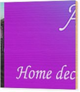 Ameynra Shop 19. Promo Banner 3 Wood Print