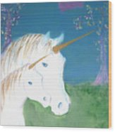 Amid The Unicorns Wood Print