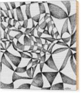 Amidst Silken Sheets Wood Print