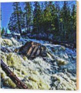 Amincon River Rootbeer Falls Wood Print