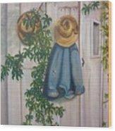 Amish At Rest Wood Print