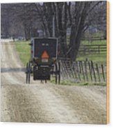 Amish Buggy March 2016 Wood Print