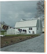 Amish Clothesline And A Barn Wood Print