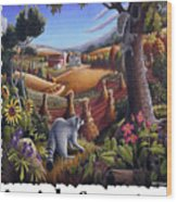 Amish Country - Coon Gap Holler Country Farm Landscape Wood Print