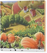 Amish Country - Pumpkin Patch Country Farm Landscape Wood Print