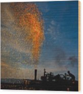 Amish Fireworks Wood Print