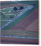 Amish Funeral Buggie Procession Aerial  Wood Print