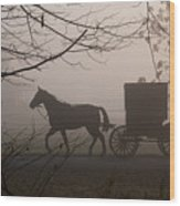 Amish Morning 1 Wood Print