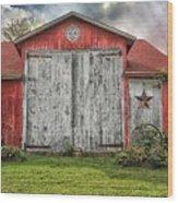 Amish Red Barn Wood Print