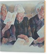 Amish Trio Wood Print