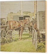 Amish Wagons Wood Print