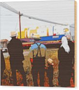 Amish Watching A Nuclear Reactor Go By 2 Wood Print
