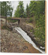 Amity Creek Falls Wood Print