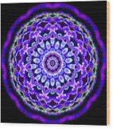 Ammersee Cropcircle Lightmandala Morph Wood Print