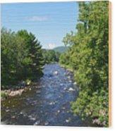 Ammonoosuc River Wood Print