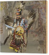 Pow Wow Among Friends Wood Print