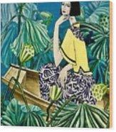 Among The Withered Lotus  Wood Print