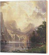 Among_the_sierra_nevada_mountains Wood Print
