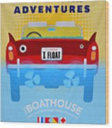 Amphicar Adventure Sign Wood Print