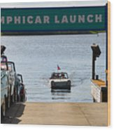 Amphicar Launch Wood Print