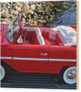 Amphicar Red  Wood Print