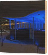 Amphitheater In Blue Wood Print