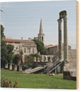 Amphitheater Ruins - Arles - France Wood Print