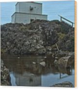 Amphitrite Point Lighthouse Reflections Wood Print