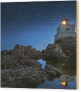 Amphitrite Point Lighthouse Wood Print