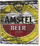 Amstel Beer Sign  Wood Print